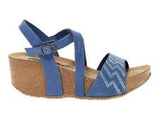Sandalo con tacco BIONATURA 24A810 J in nabuk jeans - Scarpe Donna