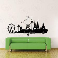 Wandtattoo Uhr KARLSSON Wanduhr Skyline Wien Österreich austria clock +400+