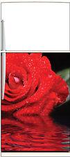 Sticker frigo électroménager déco cuisine Rose 60x90cm Réf 1325