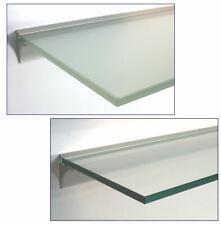 Glasregal 10mm WandRegal Profil LINO10 silber, 13 Größen 40 60 90 klar satiniert
