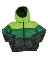Cappotto da bambino verde 313 giacca junior piumino con cappuccio manica lunga