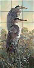 Tile Mural Backsplash Ceramic Binks Heron Wildlife Bird Lodge Art REB020