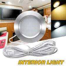 12V Interior LED Spot Flush Light For Boat Caravan Camper Van Motorhome Silver