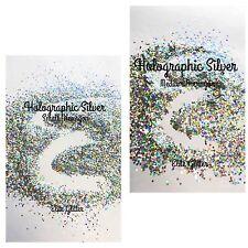 Nail Art Glitter Silver Holographic Fine Chunky Mix 008 5g/10g bag/pot
