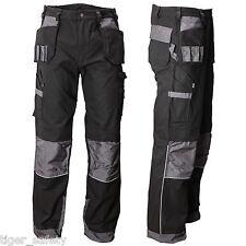 "AG Workwear Mens Premium Cargo Combat Work Trousers Pants Black & Grey 30-44"""