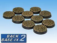 25mm Resin Bases (10) Round Cobblestone Warhammer 40k