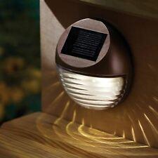 Outdoor Garden Solar Powered Fence GutterWall Decorative Lights Lamp Brown