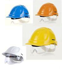 Schutzhelm mit Schutzbrille EN397 Helm Fallschutz Kopfschutz Augenschutz Visier
