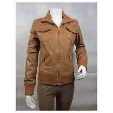 Ladies Tan Napa Leather Slim Tight Fitted Short Biker Fashions Jacket Bike