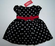 NWT Gymboree Holiday Panda Dot Bow Velveteen Dress 3-6