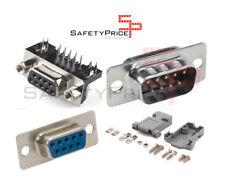 Conector DB9 Macho Hembra Male Female 9 pin 9p pcb placa carcasa case Chasis SP