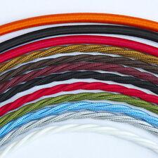 Style vintage Tressé Tissu Câble Trois core twisted-toutes les couleurs
