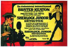 Sherlock Jr. Buster Keaton vintage movie poster print