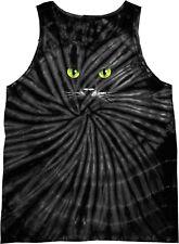 Halloween Tank Top Black Cat Tie Dye Tanktop