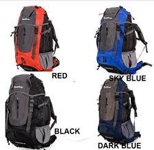 60L Nylon Double Shoulder Bag Camping Hiking Travel Backpack w back Frame 3color