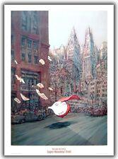 Affiche Nicolas De Crecy Super Monsieur Fruit 50x70 cm