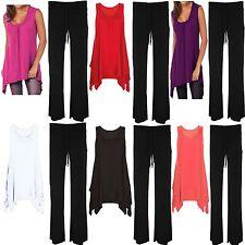 Womens Ladies Plus Size Hanky Hem Swing Dress top vest Trouser Full Suit 12 - 28