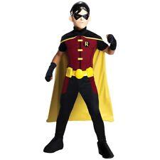 Robin Costume Kids Young Justice Superhero Halloween Fancy Dress