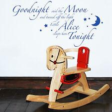 BONNE NUIT dit the Moon inspirant citations murales mots autocollant décoration