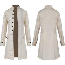 Vintage Mens Gothic Brocade Jacket Frock Coat Steampunk Victorian Cosplay Blazer