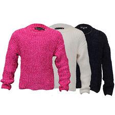 filles LOVE KNITWEAR Câble pull tricoté enfants Pull ras de cou hiver
