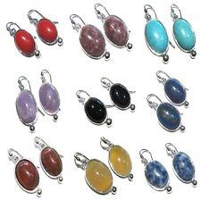 orecchini cabochon pietra dura earrings silver