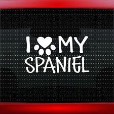 I Love My Spaniel Heart Paw Dog Car Decal Window Family Vinyl Sticker 20 COLORS!