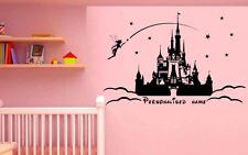 PRINCESA CASTILLO PERSONALIZADO Calcomanías/Pegatinas Disney pegatinas