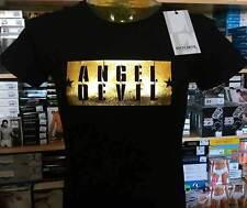 T-shirt uomo Angel Devil manica corta a girocollo con stampa logo ORO art TU374