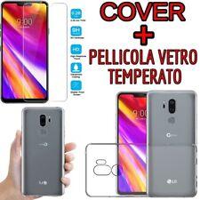 CUSTODIA COVER TPU GEL per LG G7 THINQ (LMG710EM) + PELLICOLA VETRO TEMPERATO
