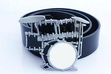 Drum Kit Buckle Belt. Choose Your Belt Length!  Fabulous Gift For Any Drummer