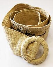 BILLABONG beige braided belt woman cinta intrecciata donna _