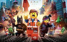 LEGO Movie Kids GIANT POSTER WALL ART | Tg A4 a A0 UK venditore | E058