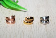 Huggie Hoop Ohrringe EDELSTAHL Paar silber rose gold +++ AUSWAHL