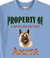 T-Shirt Dog T Shirt Property of a Spoiled Rotten Akita 5 Colors # 230