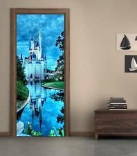 Disney Castle Door Wrap Decal Wall Sticker Mural Home Decor Cinderella D195