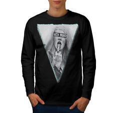 Wellcoda Girl Lick Finger Sexy Mens Long Sleeve T-shirt, Music Graphic Design