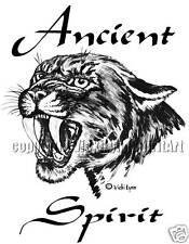 Ancient Spirit Totem cat cougar saber tooth paw T-Shirt