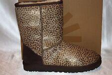 NEW! NIB! UGG AUSTRALIA Leopard Metallic Classic Short Calf Hair Sheepskin Boots