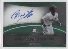 2010 Bowman Platinum Autograph Refractor Green #BPA-AH Adeiny Hechavarria Auto