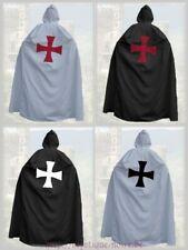 Medieval Templar Knight Crusader Cloak Hood Reenactment SCA Larp