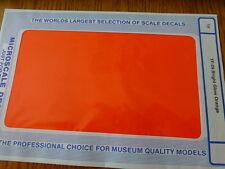Microscale Decal #TF-29 / Trim Film / Size-7-1/4 x 4-1/2-Bright Glow Orange