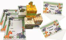 Jungle Safari Animal  Theme Baby Shower Treat Boxes & Invitations Set Favors