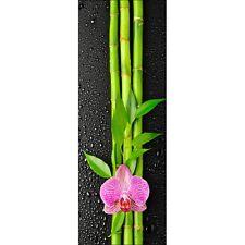 Sticker pour porte plane Orchidée Bambous 311