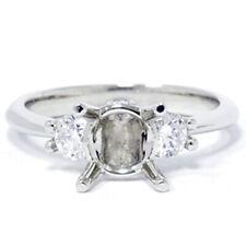 1/3ct Diamond Semi-Mount Three Stone Engagement Ring 14K Setting