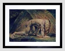 William Blake Nabucodonosor Tate Colección Negro Impresión Arte Enmarcado B12X2272