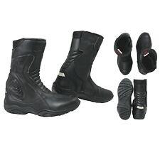 Bottes imperméable Cuir Vachette Renforts Moto Motard Chaussures Stretch Unisexe