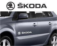 SKODA car body tuning custom vinyl Sticker Decal Graphic 2 stickers