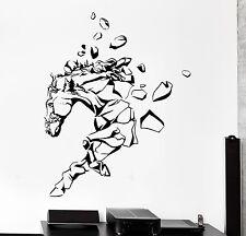 Wall Vinyl Horse Mustang Rocks Animal Ornament Mural Vinyl Decal (z3359)