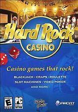HARD ROCK CASINO Poker Cards Black Jack PC GAME New JC
